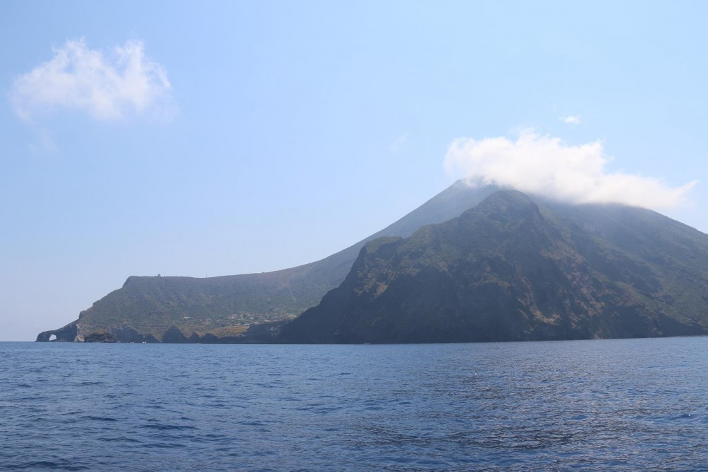 From Filicudi Island we motor east over to the next island, Isola Salina which has two distinct peaks from two extinct volcanos