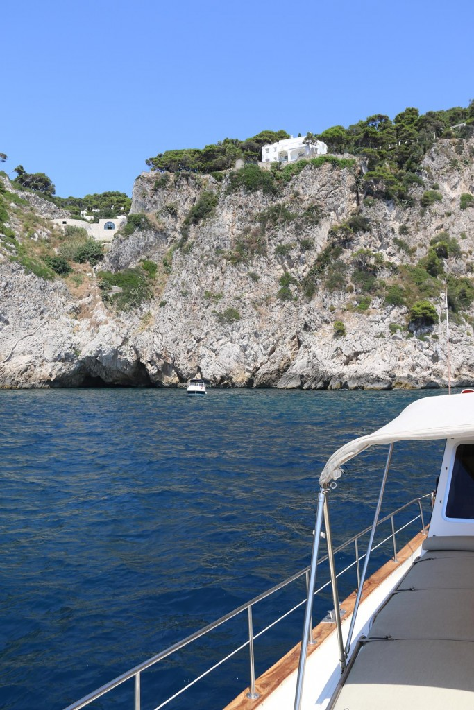 Other lovely homes perched high above built on the cliffs have a wonderful vista over Piccola Bay