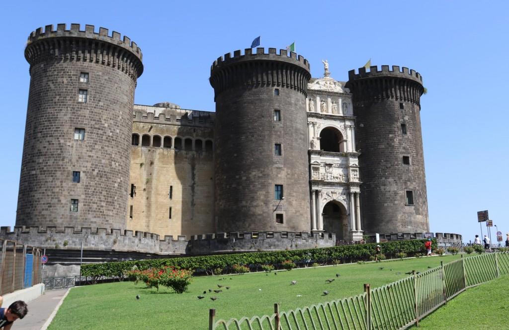 Castel Nuovo dominates the city centre