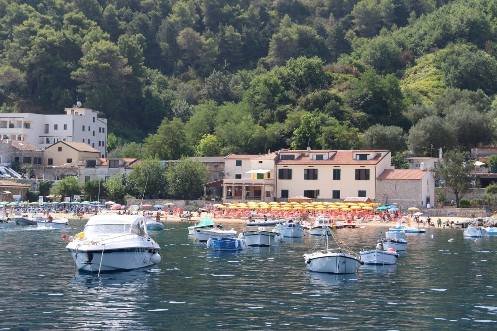 We leave the lovely port little port of Palinuro