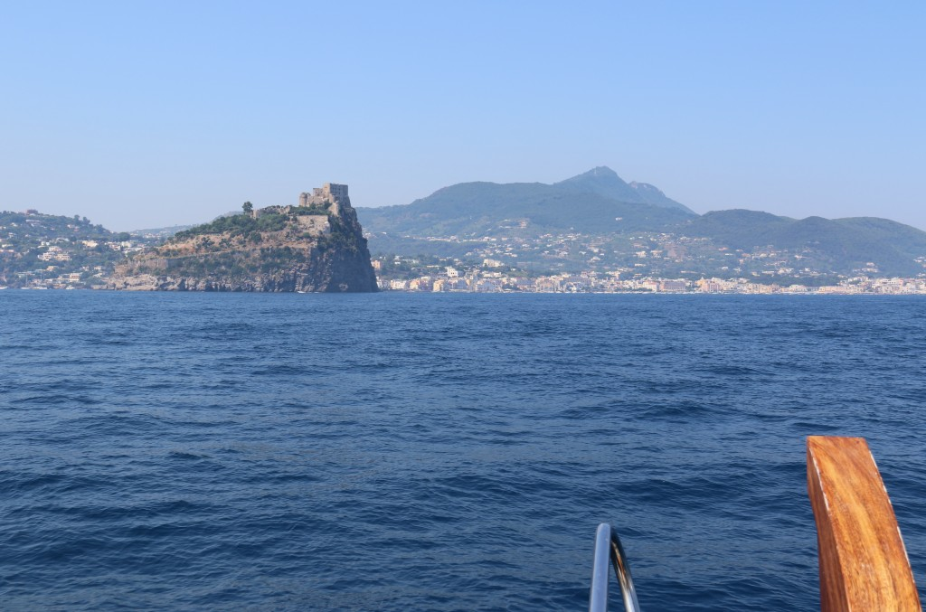 Another prominent castle on the nearby island of Ischia