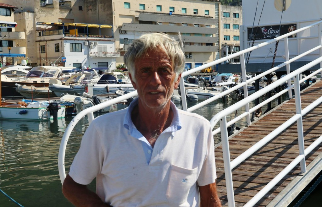 Giovanni the main man from the Marina Porto Davide