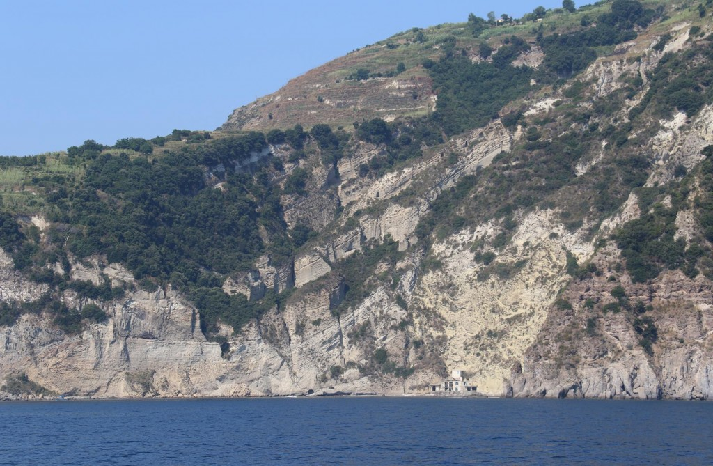 A sheltered bay in the south east by Punta San Pancrazio
