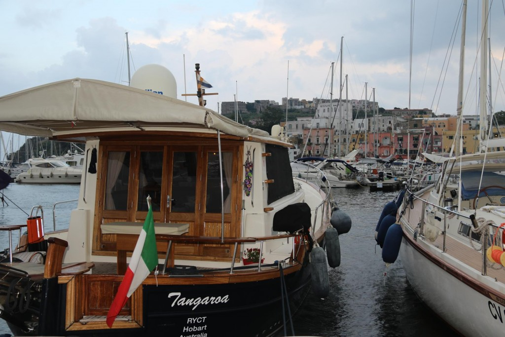 Once settled in a berth we locked the Tangaroa and went for a walk in the town