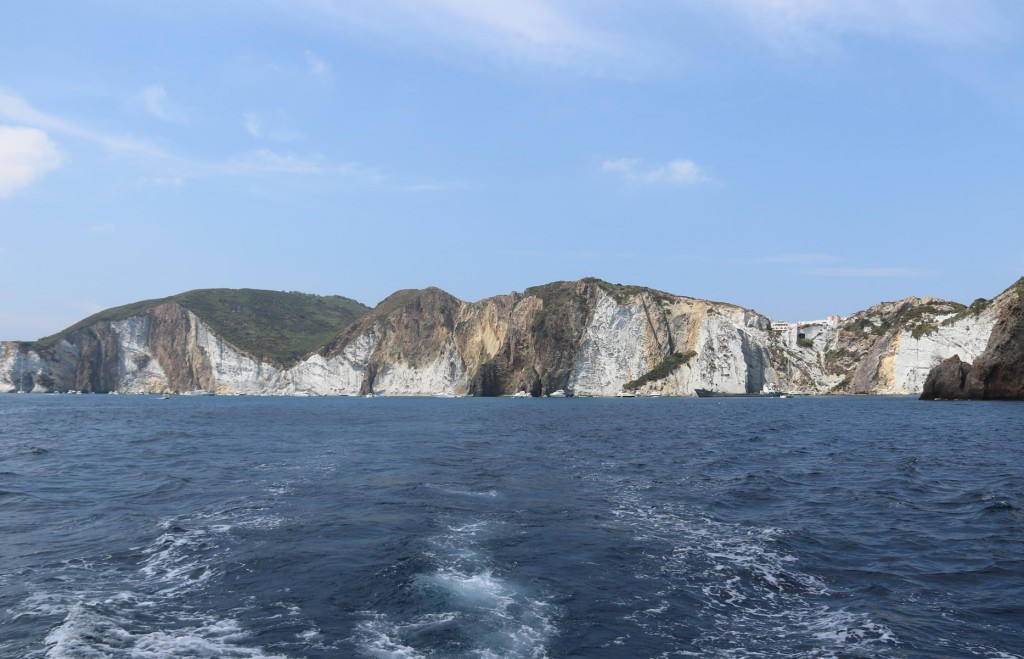 We move from our overnight mooring in Cala Inferno and motor up the coast
