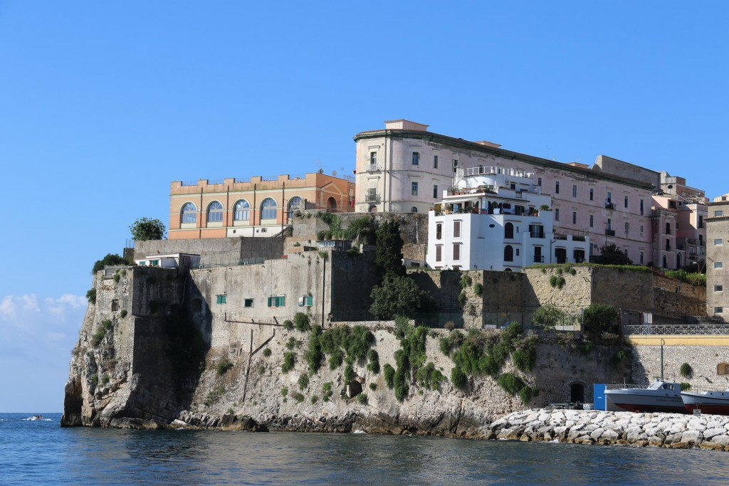 Leaving the harbour we pass the conspicuous promontory on the Torre di Orlando