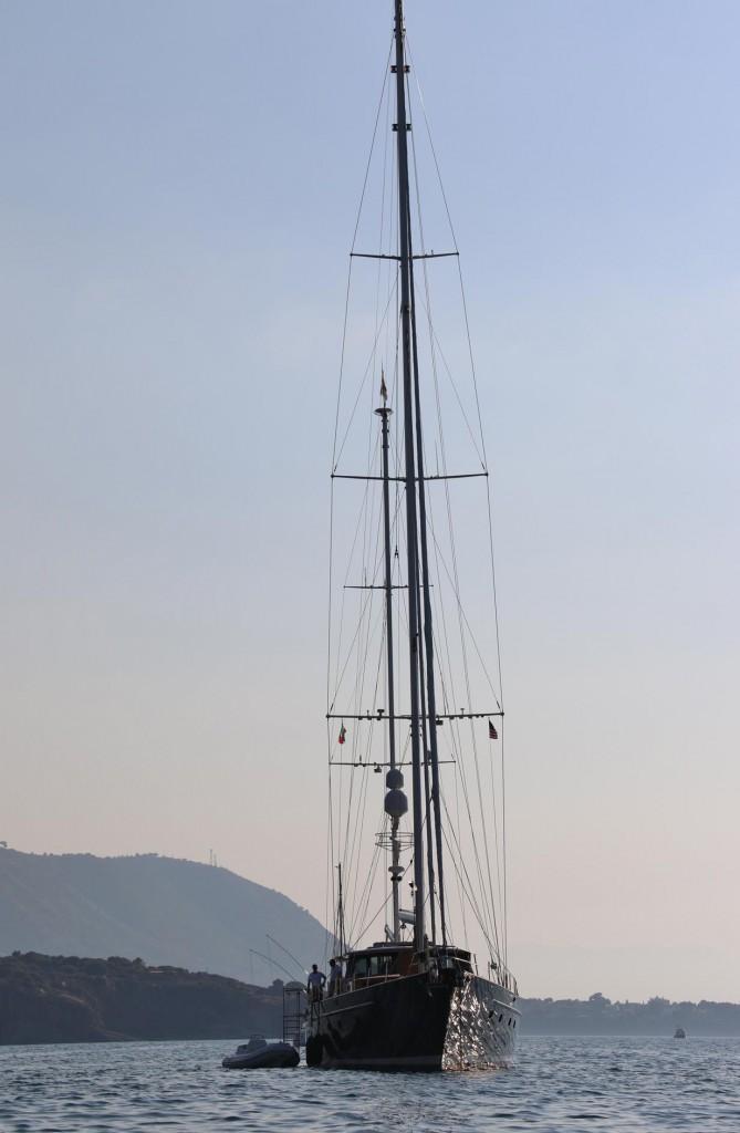 """Peter's yacht the """"Keewaydin"""" is 34 metres beautiful cruising ketch"""
