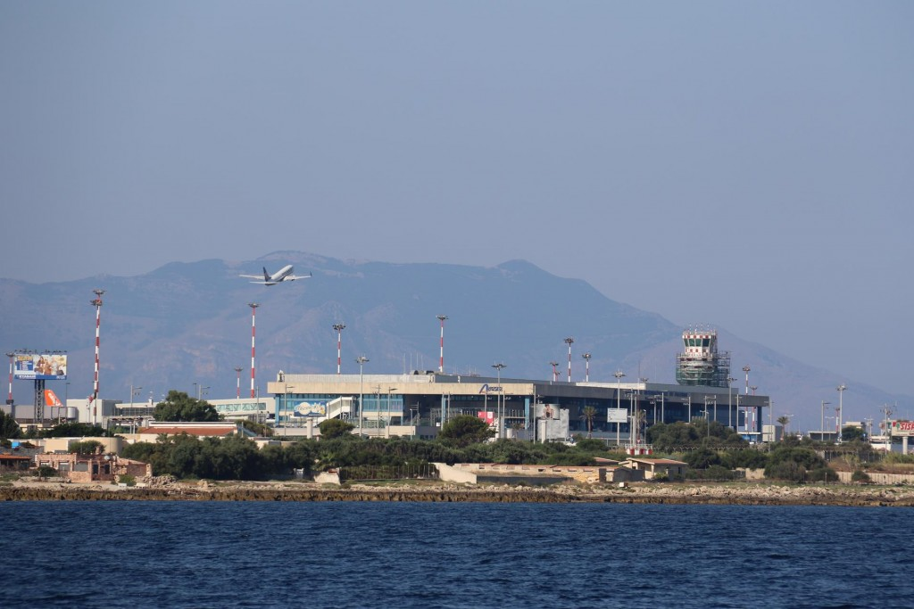 The Palermo airport which is around an hour by car from Palermo