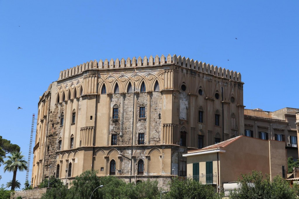 The Palazzo dei Normanni was built by the Arabs over the ruins of a Punic fortress and then later it became the Royal Palace