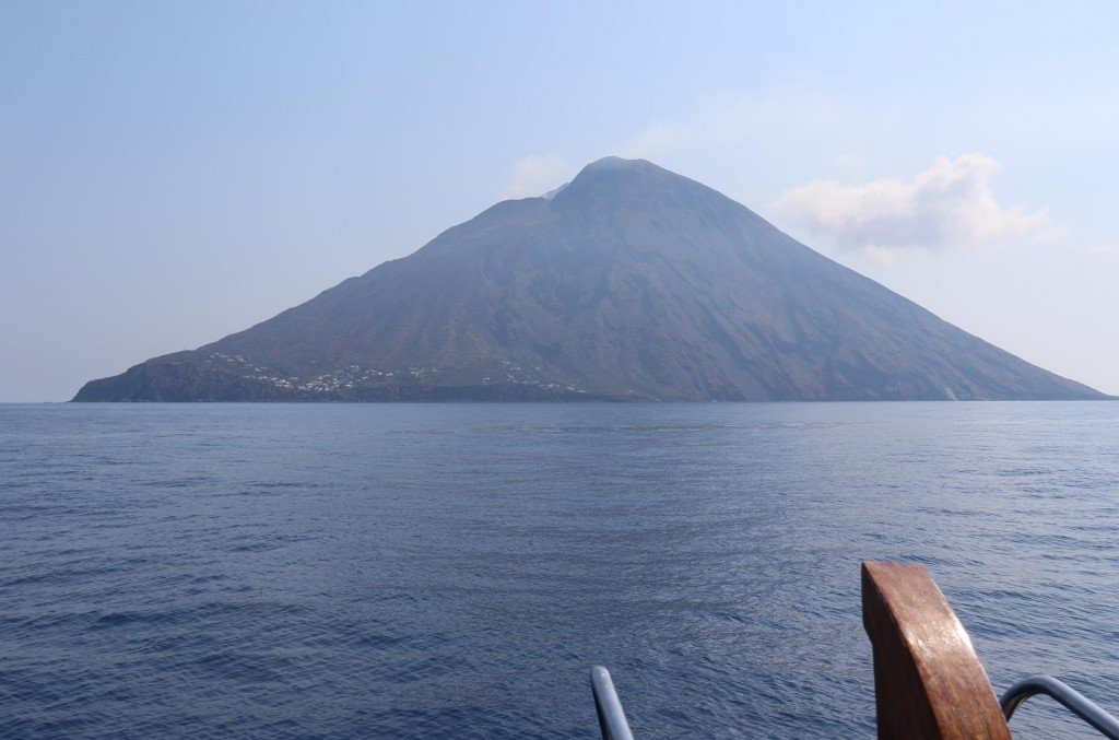 We leave Sabrina Island and  go on to the most active volcano in the world on Stromboli Island