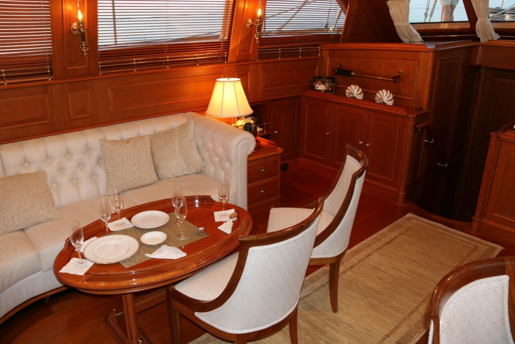 The decor in the boat is very elegant