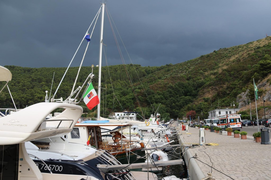 Fortunately we had booked a berth a couple of days ago in the marina as it was completely full