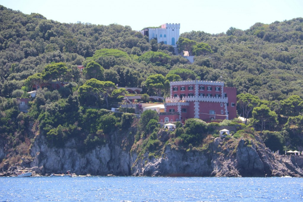 This area of Ischia has some wonderful villas overlooking the sea