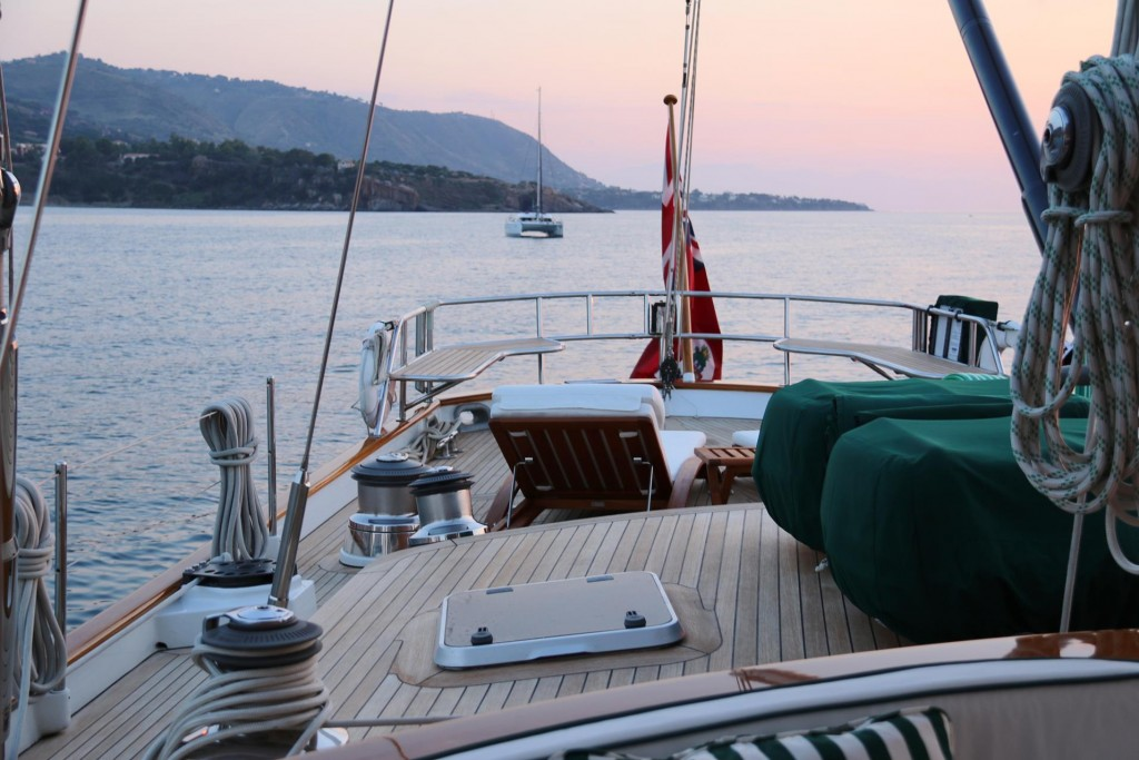 The Keewayedin looks very comfortable with wonder spacious deck area at the stern