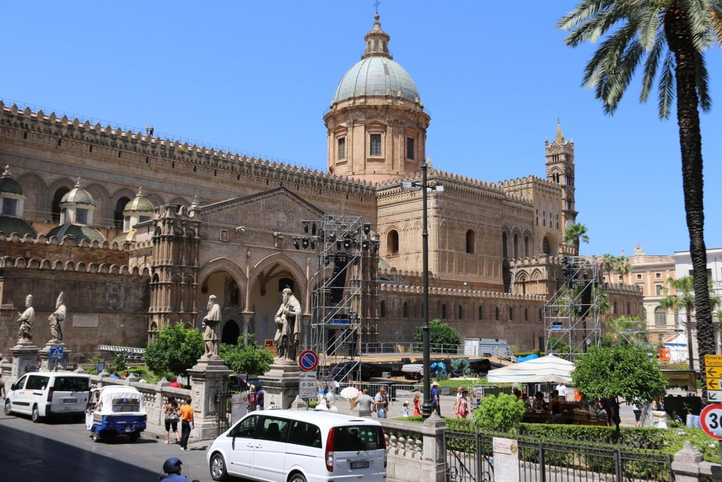 The Palermo Cathedral was built in 1184 on the site of an ancient basilica