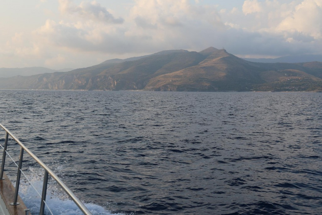 Finally after 13 hours of motoring, Capo Palinuro comes into view