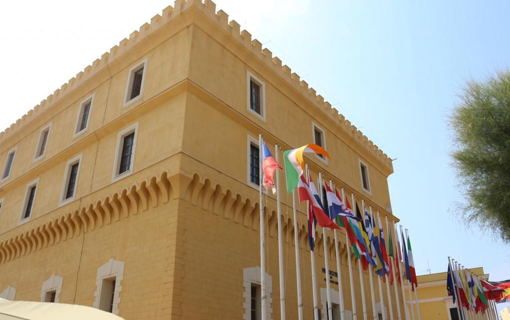 The Castello in the piazza