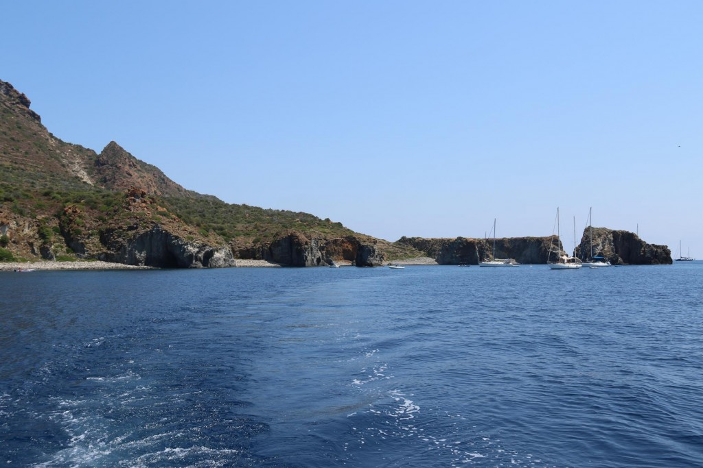 We arrive at Punta Milazzese which is on the south coast of Panarea Island