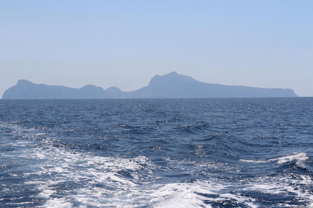 We leave Capri and enter the large Gulf of Naples
