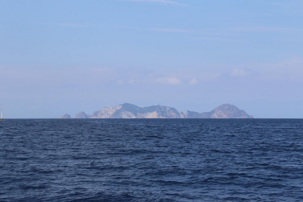 We leave Ponza Island and approach Palmarola Island which is about 9 kms west
