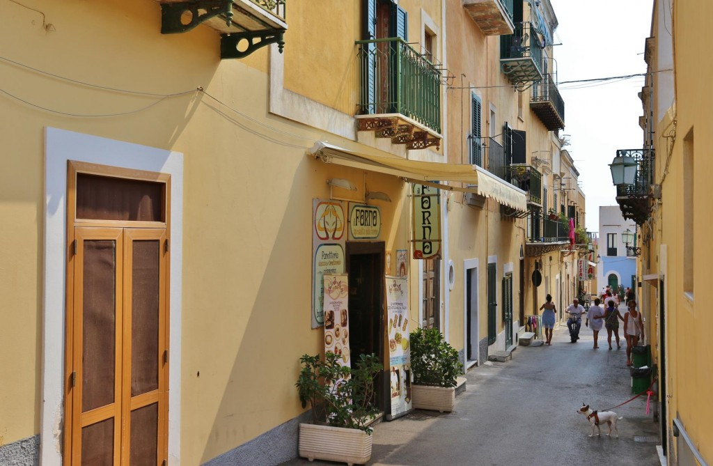 By the piazza are small streets, one with a fabulous bakery and nearby a handy supermarket