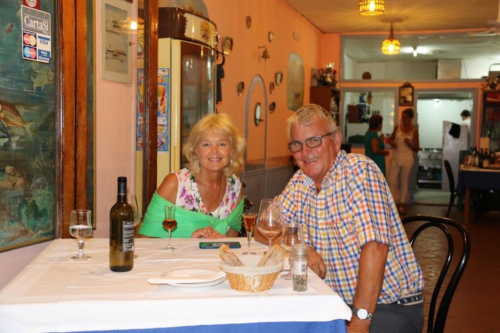 We enjoyed a grappa to finish a lovely evening