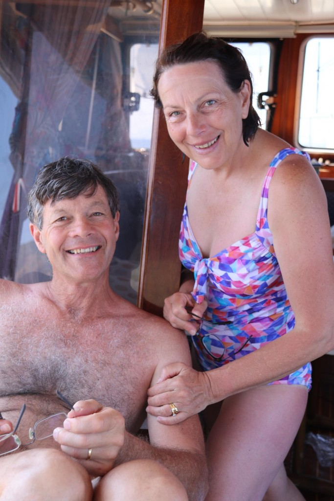 Don and Susie are enjoying the relaxing aboard and also the swimming exercise everyday