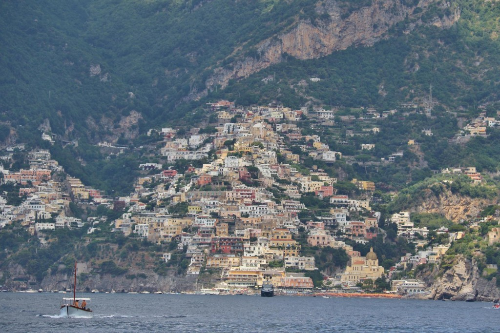 On our way west along the Amalfi Coast we stop at the picturesque town of Positano