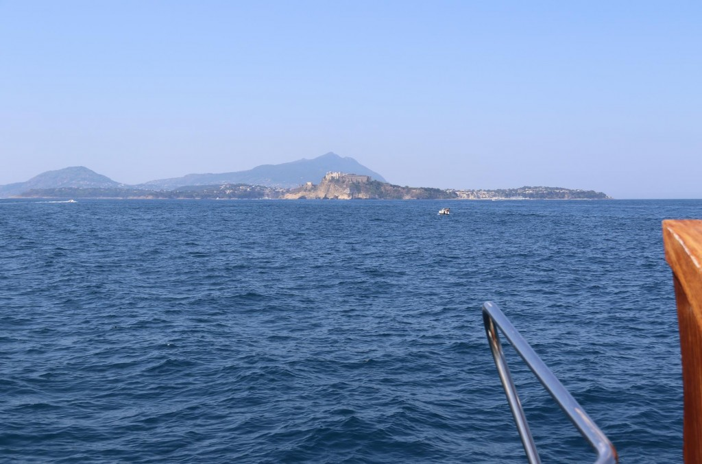 We cross the short distance  to Isola Procida from main land Italy via the Canale di Procida