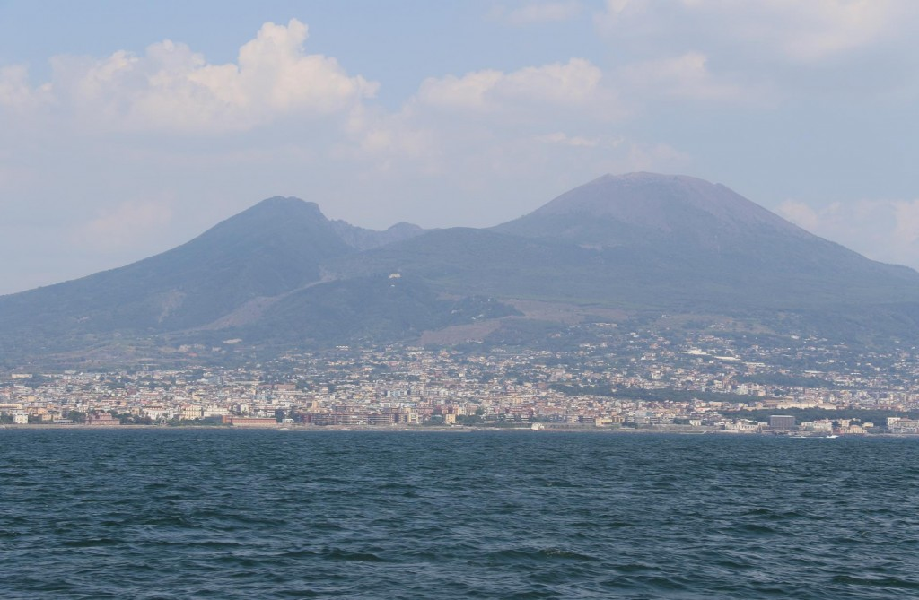 Almost all the coastline of the Gulf of Naples from Sorrento to Naples to Cape Miseno is populated. All the towns which are overlooked by Mount Vesuvius, over the years have merged together