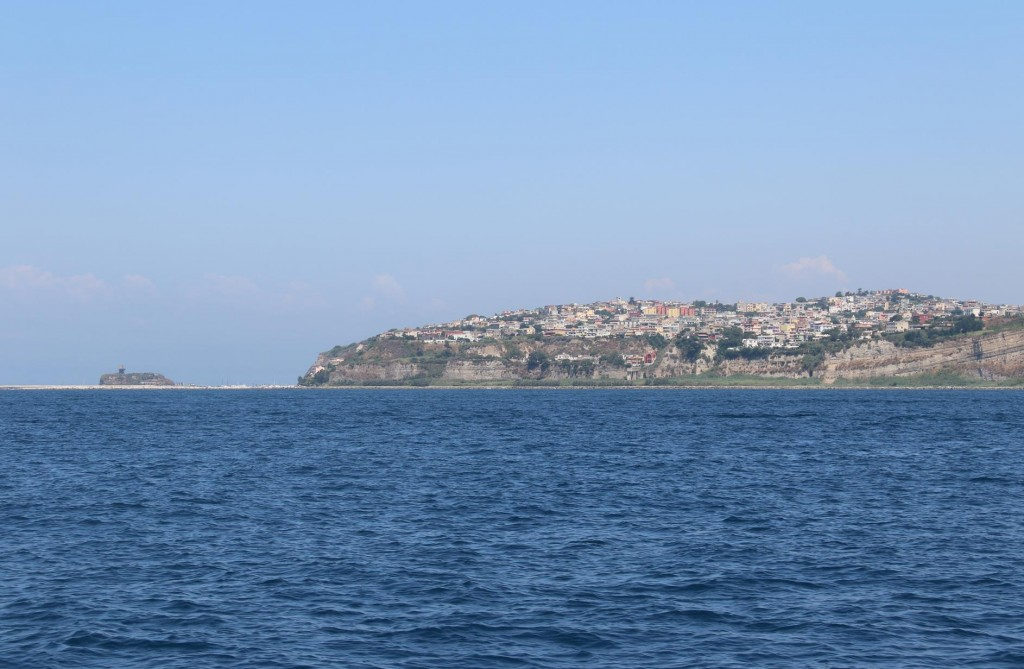 Looking back to the coast and Acquamorta