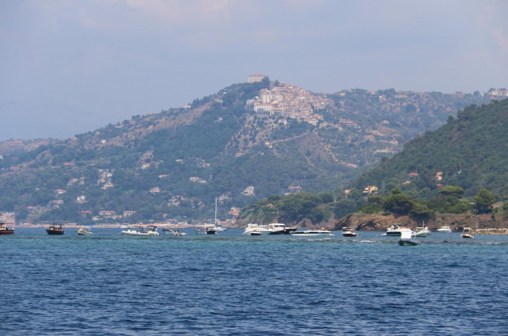 Punta Licosa with San Marco Di Castellabate in the background