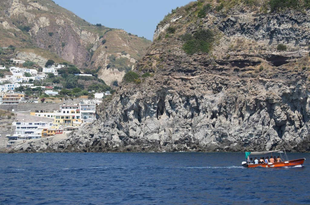 On the western side of Sant' Angelo Point is another bay which is busy with many boats of all sizes