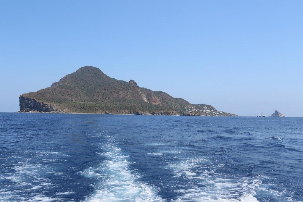 Once we had our swim we leave Panarea and head south west to Lipari Island