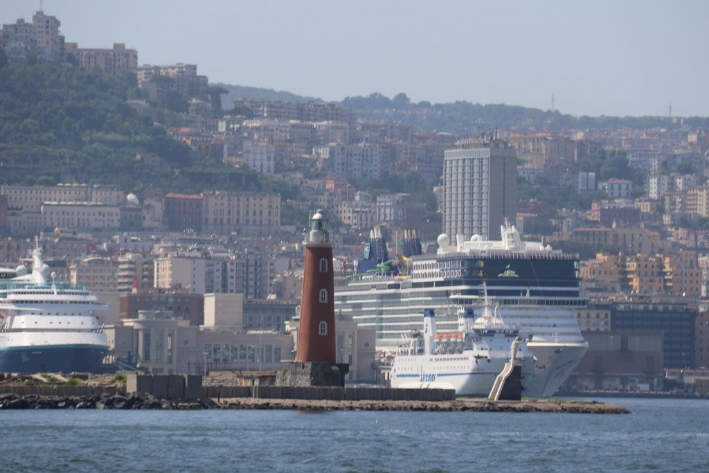 A number of cruise ships are in the port today