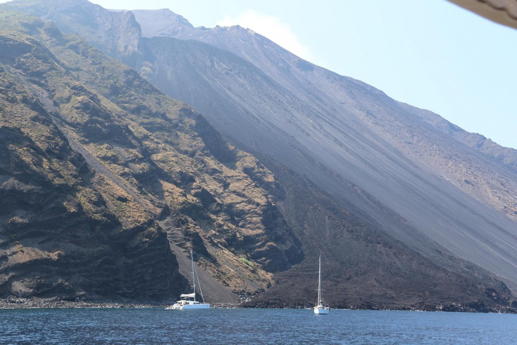 A  couple of other cruising yachts are also visiting this famous island
