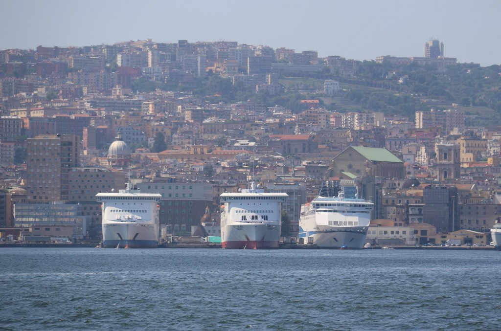 Naples is a large port which has many cruise ships visiting all year around especially between April and November