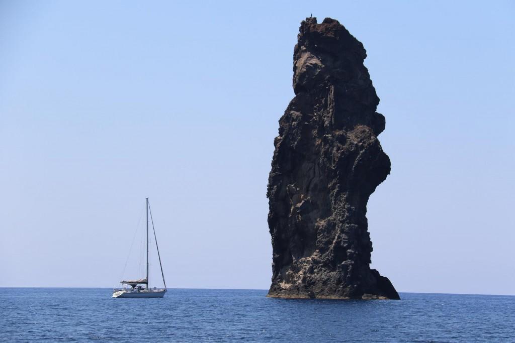 The Faraglione della  Canna  amazing basalt stack by Filicudi Island was well worth visiting
