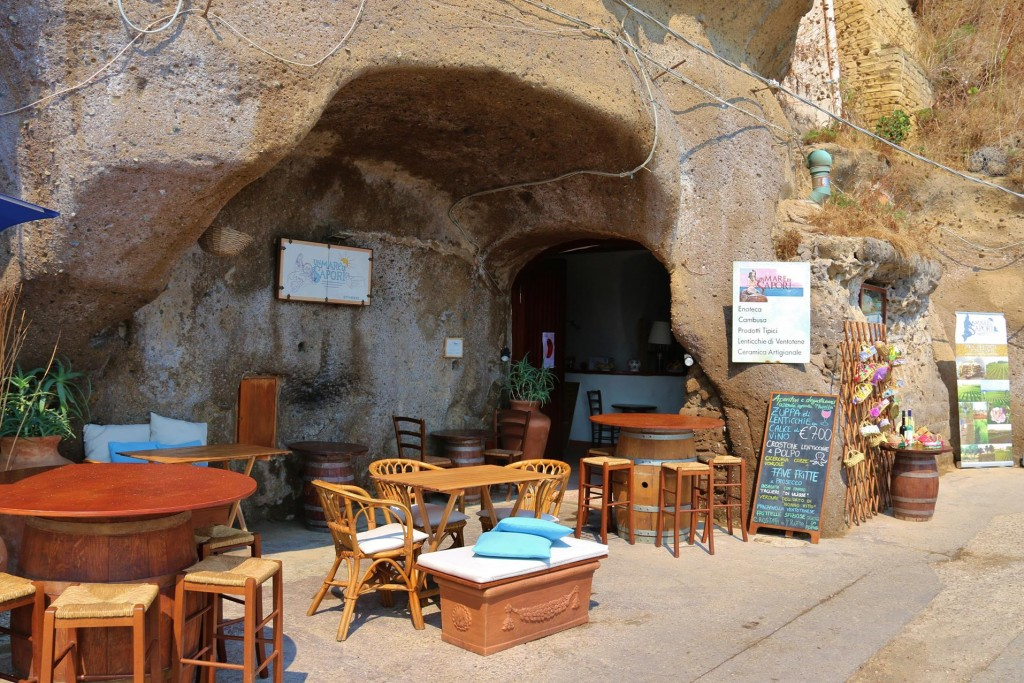 In olden Roman times the rock chambers were used for storing goods however today a bar operates out of one