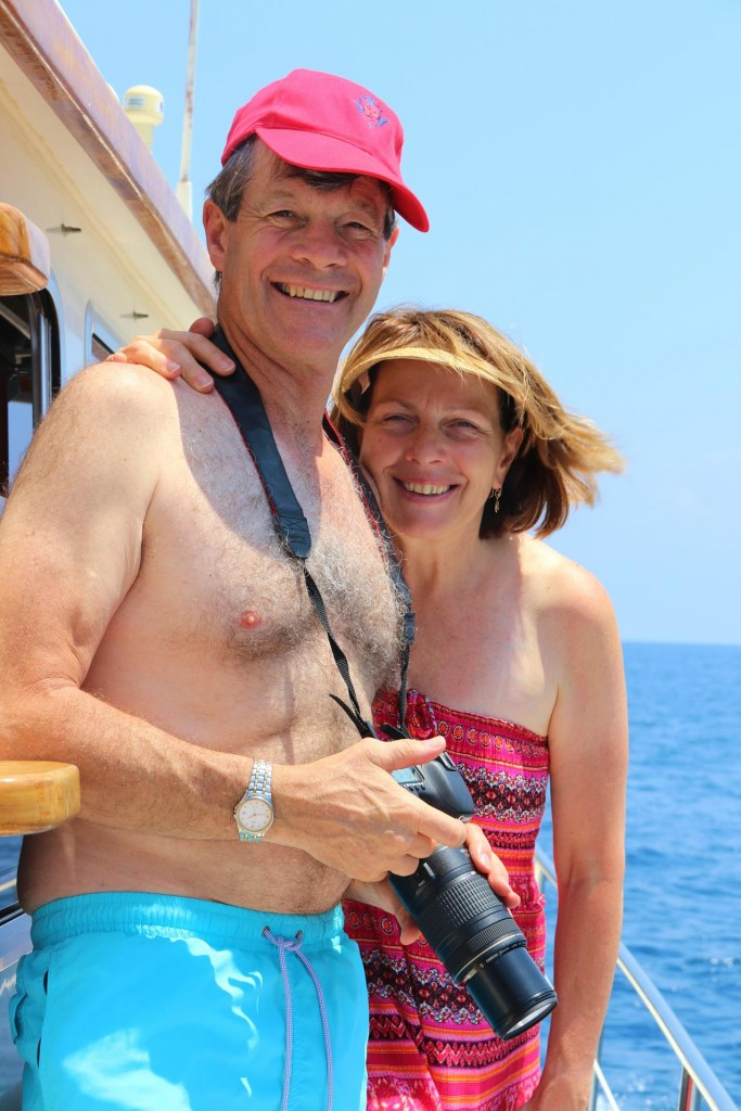Don and Susie seem to be happy heading off on the boat with us