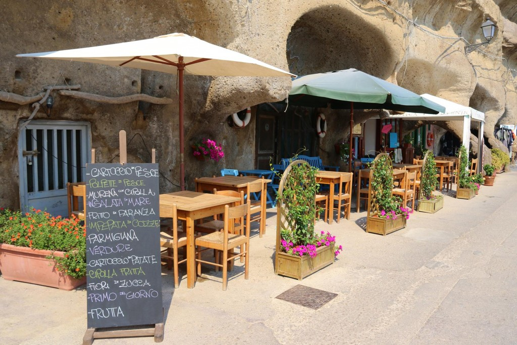 In a couple of other carved rock chambers there is a small eatery and also a diving business in the other