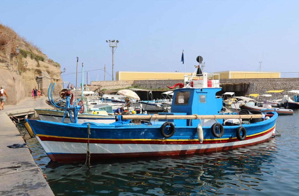 Colourful fishing boats are always close by