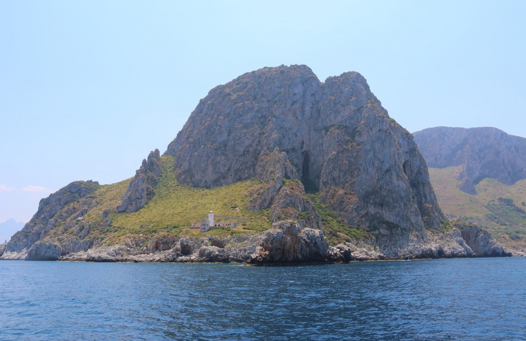 We pass the picturesque Capo Zafferano heading east along the north coast from Palermo