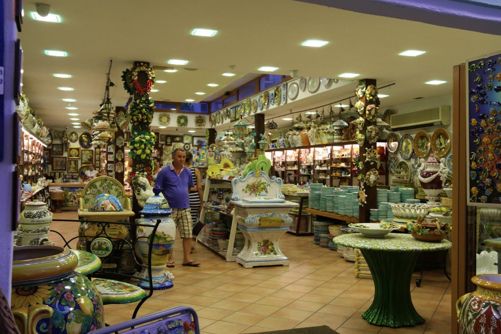 The ceramic shops are plentiful everywhere in Italy