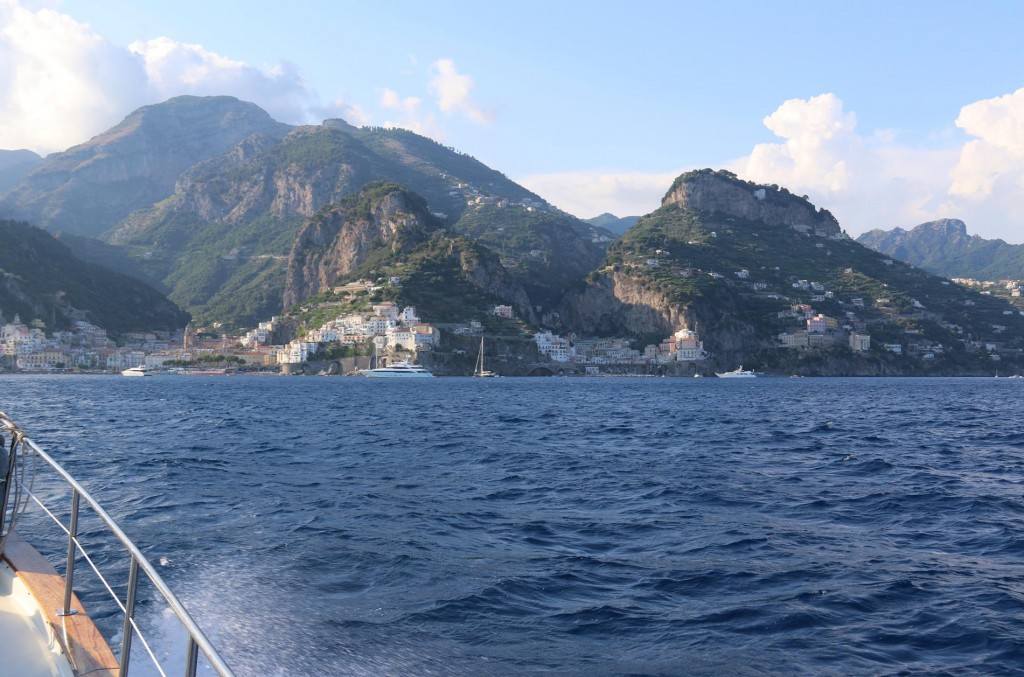 After travelling 50 kms from Palinuro up the west coast of Italy we near the Amalfi Coast