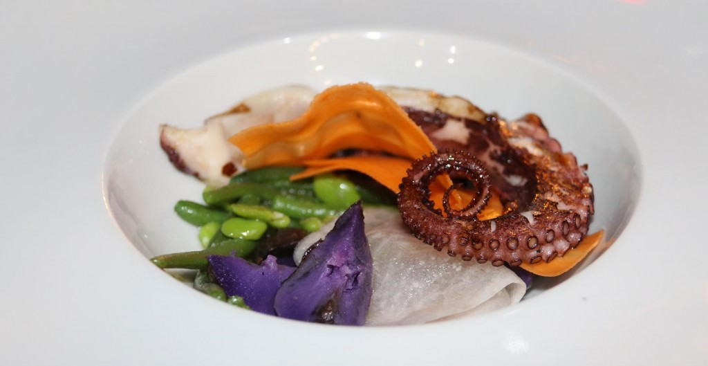 The grilled octopus entree looked and tasted outstanding