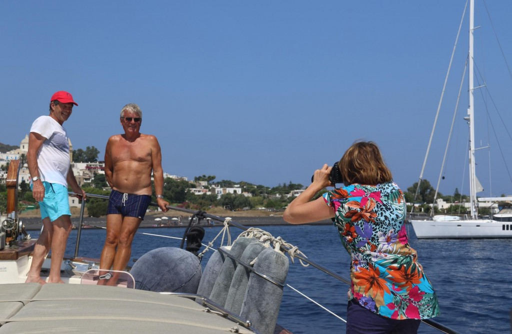 Susie busy taking plenty of photos on and off the boat