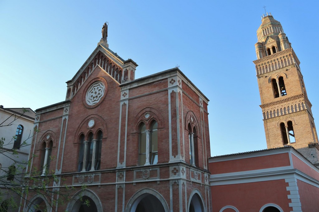 The Cathedral of Assunta e Sant'Erasmo with it's amazing belltower