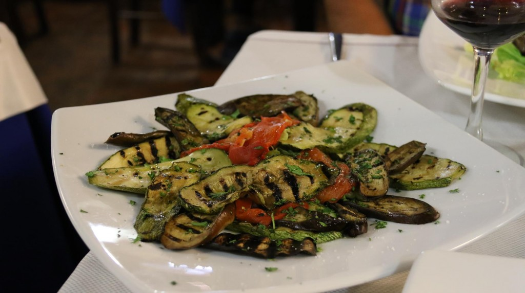 We always enjoy the Italian grilled vegetables