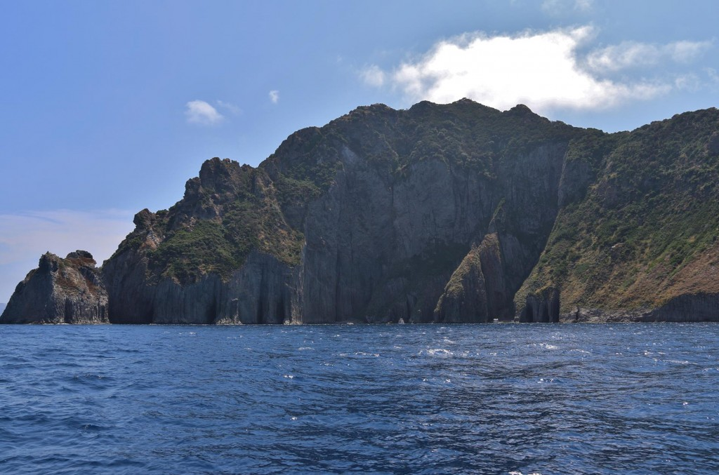 The scenery is also quite rugged on Palmarola Island